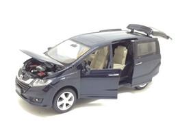 $enCountryForm.capitalKeyWord Australia - 1:32 Scale Diecast Alloy Metal Luxury MPV Car Model For HONDA Odyssey Collection Vehicle Model Pull Back Sound&Light Toys Car