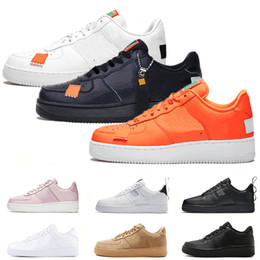 competitive price 08e85 81225 nike air force 1 just do it af1 Zapatillas de baloncesto para hombres 2019  dunk utilitario blanco negro naranja trigo alto bajo para hombre zapatillas  ...