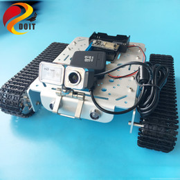 dog videos UK - T200 Remote Control WiFi Video Robot Tank Chassis Mobile Platform For Arduino Smart Robot With Camera Clawler Toy