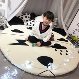 Children Hand Games Australia - Cute Animal Shape Mat with Balls Around Children Toy Removable Carpet Baby Game Crawling Nordic Style Kids Room Decoration 150cm