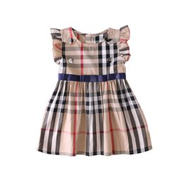 $enCountryForm.capitalKeyWord UK - girls dress 2019 spring summer INS Europe America doll collar sleeveless cotton girls elegant plaid dress