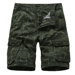 $enCountryForm.capitalKeyWord UK - Summer Camo Cargo Shorts Men Casual Cotton Loose Work Shorts Men Military Multi Pocket Tactical Baggy Trousers Plus Size 29-38