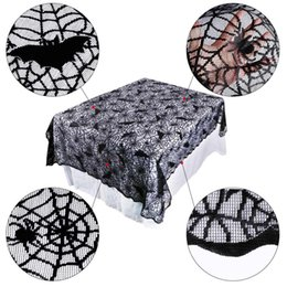 $enCountryForm.capitalKeyWord NZ - Table Cloth Lace Halloween Decorate Tablecloth Black Spider Web Creative Tables Cover Halloween Spider Web Runner Table Decor Festival Party
