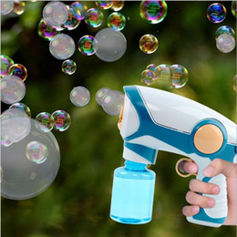 toy mini guns UK - Auto Smoke Fog Spray Bubble Machine Gun Music Cute Automatic Soap Water Blower Outdoor Toys For Kids Girls Boys Gift Party Home#ggg