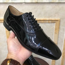 $enCountryForm.capitalKeyWord Australia - Hot Sale-signer Dress Shoes Red Bottoms Casual Shoes Matt Patent Leather Round Toes Slip-on Spikes Flat Business Sneakers 38-47