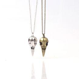 Western Product Australia - New product listing Punk skull necklace Unisex fashionable trend wholesale western style pendant necklace metal necklace
