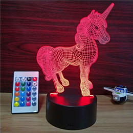 Bedroom Neon Signs Australia - OHANEE 3D USB LED unicorn Color changed Neon Sign Light home bedroom christmas festival decoration Arts Crafts birthday Gifts Lighting