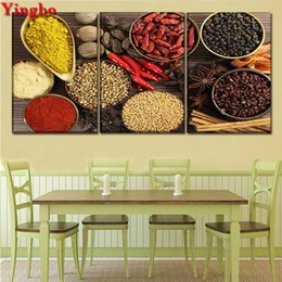$enCountryForm.capitalKeyWord Australia - 3 pcs DIY Diamond Painting Full Square Diamond Embroidery Spoon Grains Spices Mosaic Picture Modern Kitchen & Restaurant Decor