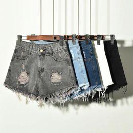Wholesale womens denim shorts resale online - Denim Shorts For Women Summer New Brand Trendy Slim Casual XL XL XL Plus Size Womens High Waist Shorts Jeans Large Size