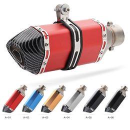 Vente en gros Echappement Akrapovic moto universel 51mm modifier silencieux d'échappement de motocross pour FZ6 CBR250 CB600 MT07 VTT VTT