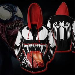 spiderman costume women 2019 - Movie Venom Spiderman Cosplay Costumes Zipper Hoodies Sweatshirts 3D Printing Unisex Adult man and women Clothing discou
