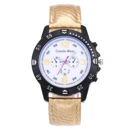50d7e8bb7ef6 Fashion Creative Women Watch Blue Glass Three-eye Straigh Face Dial Unisex  Scrub Leather Belt Vogue Quartz Watch Reloj Mujer C3