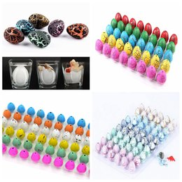 Dinosaur eggs hatching toy online shopping - 4styles set Dinosaur egg water hatching growing dinosaur eggs expansion cracks magic cute children kids toy party favor FFA1728