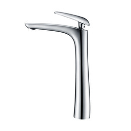 China Tall Matte Black Brass Washbasin Faucet Bathroom Sink Water Mixer Hot And Cold Water Tap Chrome Plated White Painted cheap painting faucets white suppliers