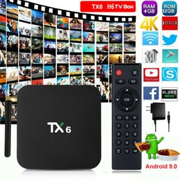 Chinese  TX6 4GB + 64GB TV Box Tanix Ultra HD Blutooth BT5.0 Wifi 2.4GHz + 5.8GHz 6K H.26 manufacturers