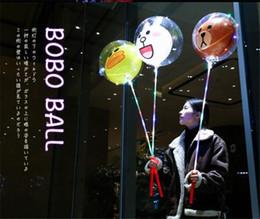 Luci trasparenti sveglie della decorazione della palla della palla di Bobo LED Luci di palloncino Luci natalizie della celebrazione di nozze ghirlanda c516