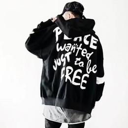 Zipper Sweatshirt Hood NZ - 2019 Cool Hooded Men Hoodies Sweatshirts Letter Print Hood zip Hoodie Hip Hop Streetwear Clothing Pullover Hoodie Us size S-XL