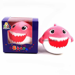 $enCountryForm.capitalKeyWord Australia - Baby Shark Plush Keychain Come With Exquisite Box Packaging 10CM PINK Shark MaMa Plush Squishy Decompression Toy