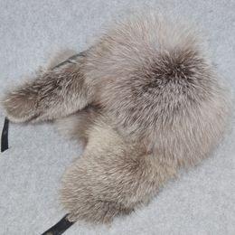 $enCountryForm.capitalKeyWord Australia - Brand Unisex Winter Russian Real Fox Fur Hat Warm Soft Quality Real Raccoon Fur Bombers Hats Luxury Real Sheepskin Leather Cap