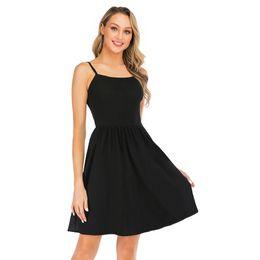 f062871ba35 Kenancy Summer Women Little Black Dress O Neck Sleeveless Casual Boho Beach  Retro Dress Tunic Robe Vestidos Cotton Sundress New