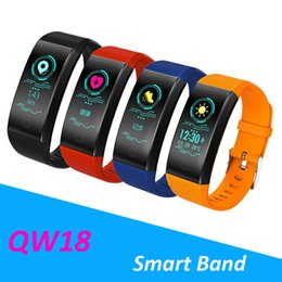 Portuguese Bracelets Australia - QW18 Smart Wristband Intelligent Sport Bracelet Fitness Sleep Tracker IP68 Pulse Watch Outdoor Smartband pk fitbit mi band 3