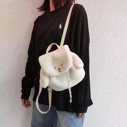 cute backpack handbag UK - Designer-new designer handbag personality cute plush rabbit backpack girl cute size 22*13*22cm04b4#Worth collecting! Cute is a bear xvxv