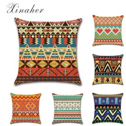 Discount weave african - African print theme totem geometry Cotton Linen Throw Pillow Cushion Cover Car Home Decoration Sofa Pillowcase