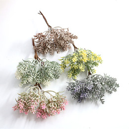 bathroom accessories ceramics Australia - multicolor Christmas decoration plant wreath wedding decoration flower handmade diy gift box accessories artificial flower