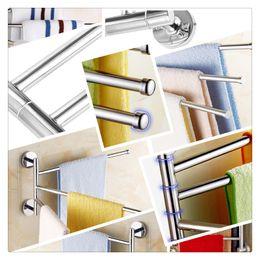 Storage For Towels Australia - 3-Arm Wall-Mounted Stainless Steel Folding Arm 360 Degree Rotating Bars Bathroom Towel Racks Hanger Holder Storage Organizer for Bathroom C