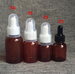 $enCountryForm.capitalKeyWord Australia - 25ML Brown Green Plastic Essential Oil Bottles,Environmental Protection Essence Bottle Empty Cosmetic Bottle