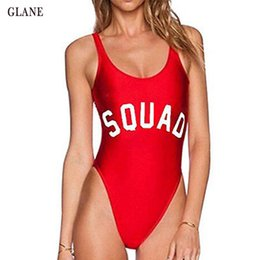 sexy one piece ruffled swimwear UK - Hot Women Sexy Sport Off Shoulder Swimwear Ruffle Female Bathing Suit Monokini Thong Swimwear One Piece Letter Swimsuit