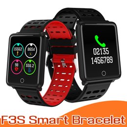 Wholesalers Android Boxes Australia - Fitness Tracker F3S Smart Bracelet with Heart Rate Blood Pressure Smart Watches Smart Wristband For Apple Android Cellphone with Retail box