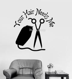 $enCountryForm.capitalKeyWord UK - Hair Salon Stylist Vinyl Wall Decals Quote Hairdresser's Living Room Large Hall Decor Wall Art Stickers Wallpaper Modern