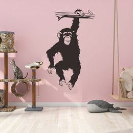 $enCountryForm.capitalKeyWord NZ - Black Gorillas In the Tree Wall Decals Vinyl Self-adhesive Cute Monkey Wall Sticker Murals for Kids Room Decoration Animal Poster