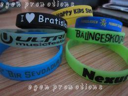 Personalized Bracelets Australia - 100pcs Lot Custom Silicone Bracelets For Party Egen Promotions Personalized Writing On Wristbands Y19051302