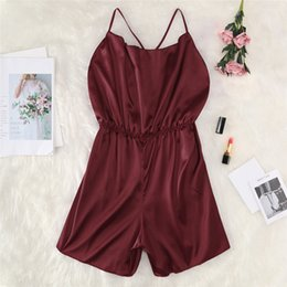$enCountryForm.capitalKeyWord Australia - Large Size Ladies Home Vest Onesies Sexy Underwear Women Solid Lace Hollow Out Romper Jumpsuit Sleepwear Lace Babydoll #4JY10