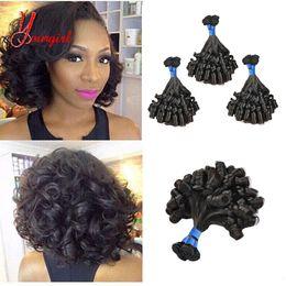 Funmi Hair Australia - Peruvian Funmi Hair Romantic Girly Curly 3 Bundles Unprocessed Human Virgin Hair #1B Color Natural Grade 8A Good Quality Free Shipping
