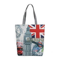britain flags Canada - Britain Rice Flag Printing Canvas Woman Package Wallace Zhongfanbu Women's Singles Shoulder Handbag Woman Support Special Package
