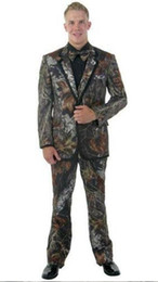 $enCountryForm.capitalKeyWord Australia - Camouflage Men Wedding Tuxedos Notch Lapel Groom Tuxedos Fashion Men Blazer 2 Piece Suit Prom Dinner Jacket (Jacket+Pants+Tie) 2626