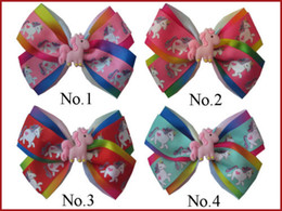 "$enCountryForm.capitalKeyWord NZ - Style Girl 4.5"" Two Tone Angel Hair Bow Clip Rainbow Unicorn Pony Hairbow 25PCS"