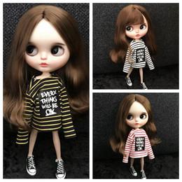 $enCountryForm.capitalKeyWord Australia - Fashion Blyth Clothes Stripe Long Sleeve T-shirt for doll dress for 1 6 Dolls Accessories Fit(blyth,pullip,azone,kurhn,1 6 Doll)
