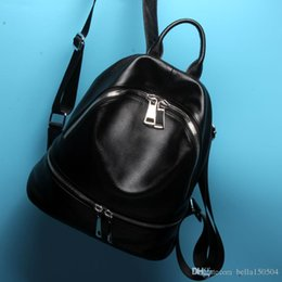 Styles Backpacks Australia - European style brand backpack luxury Genuine leather designer multi-pocket package unisex backpacks handbags popular travel bag