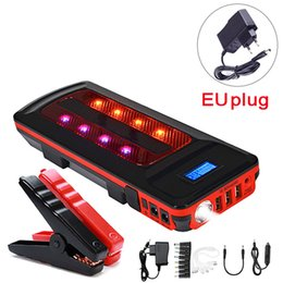 power smart car Canada - Wholesale 12V 99800mWh Portable Emergency Battery Charger Car Jump Starter Smart Clip Power Bank Starting Light Bar US UK AU EU