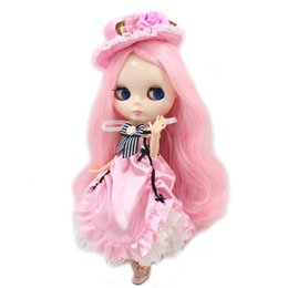 China Nude 1 6 Blyth doll joint body light pink mix blond hair no bangs white skin with big breast BJD ICY toy 30cm gift No.1003 1215 suppliers
