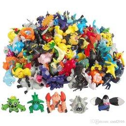 144pcs Styles mélangé nouvelle mode jouets figure Monster Pikachu Action Figures multicolore 2-3CM 24 pcs / sac. en Solde