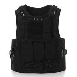 Discount tactical vest airsoft paintball - Outdoor Tactical Military Airsoft Paintball CS Games Vest Combat Waistcoat Assault Hunting Travel Vest #303757