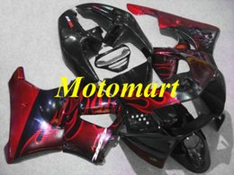 Cbr 919 Fairings Red Australia - Motorcycle Fairing kit for HONDA CBR900RR 919 98 99 CBR 900RR 1998 1999 ABS Red flames black Fairings set+gifts HC08