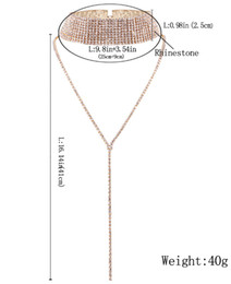 $enCountryForm.capitalKeyWord Australia - 4 color European and American fashion personality jewelry popular necklace choker tide female Rhinestone Necklaces full diamond necklace