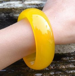 Yellow Gray Bracelet Australia - S TJP bracelet wide nature sardonyx beautiful woman sweet yellow charm agate bracelet cheongsam bracelet china style chalcedony party