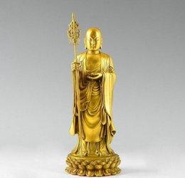 Ingrosso Statua buddista del rame di rame Tangseng Jizo Ksitigarbha Di Zang di buddismo del Tibet